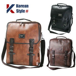 6d2b7f61f049 Image is loading Unisex-15-Laptop-Luggage-Synthetic-Leather-Backpack-Men-