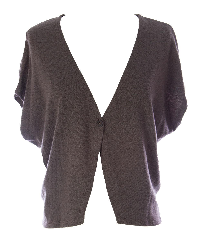 Lunn Women's Claire Moka Dolman Sleeve Knit Waistcoat H103LM105 NEW