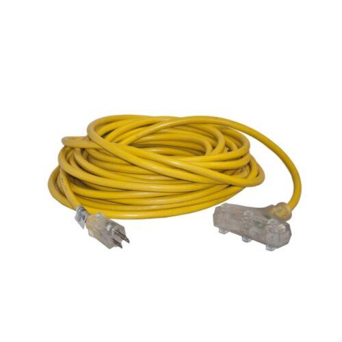 ALEKO ETL Heavy Duty 50Ft Extension Cord SJTW Triple Tap Lighted Plug 12//3 Gauge