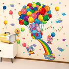 Colorful balloon Flying Cartoon art wall sticker living room decal Nursery Decor