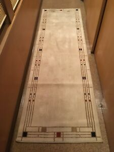 Karastan Wool Area Rug Panel Frank Lloyd Wright Mission Style 2 6 X