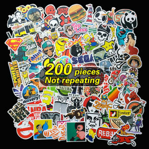 200X-Random-Cool-Vinyl-Decal-Graffiti-Sticker-Bomb-Skate-Laptop-PVC-Stickers-Out