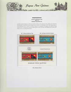 1975-PNG-PAPUA-NEW-GUINEA-Independence-STAMP-SET-K-438