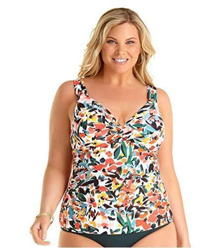 Anne Cole Women's Plus Size Twist Front Underwire, Sunset Floral, Size 18.0 oKFn