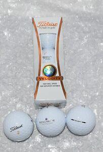 TITLEIST VELOCITY 3 Golf Balls DISTANCE SHORT GAME FAST SPEED NIB