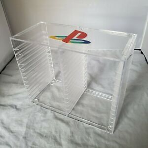 RARE Playstation 1 PS1 Game Rack/Case/Holder | Holds 30 | Clear Plastic/Acrylic