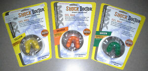 Shock Doctor Gel Max YOUTH Mouthpiece Kids Mouth Guard - Green Yellow or Orange