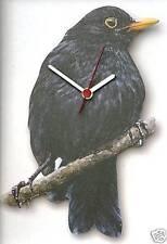 Black Bird Song Bird wooden Wall Clock Made in UK