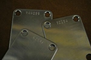 Aged-Relic-NECK-PLATE-NECKPLATE-for-FENDER-w-choice-of-a-CUSTOM-SERIAL-NUMBER
