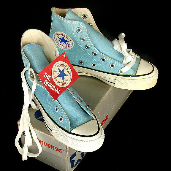 Vintage USA-MADE Converse All Star Chuck Taylor blue MINT BOXED size 4 (mens 2)