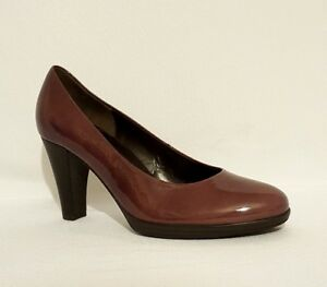 NEW GABOR PURPLE PLUM BROWN PATENT LEATHER HIGH HEELS COURT SHOES ...