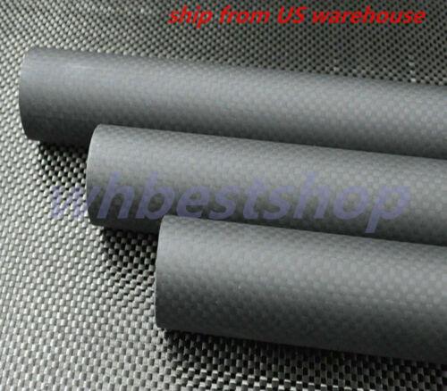 Matt 3k Carbon Fiber Tube//Pipe OD22 25 26 28 29 30 32 38 50mm x L500mm DIY Rod-H