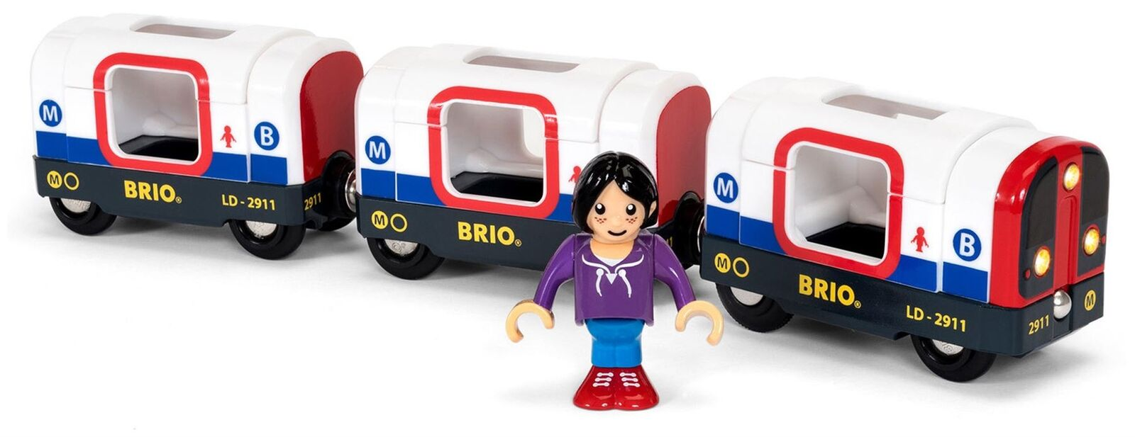 Brio TUBE METRO TRAIN Wooden Toy Train BN