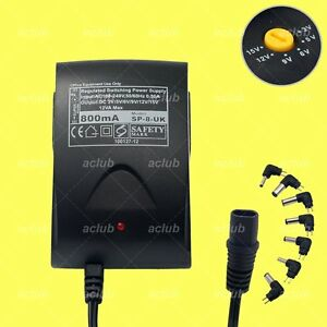 800mA-Multi-Voltage-3V-5V-6V-9V-12V-15V-Regulated-AC-DC-Switching-Power-Supply