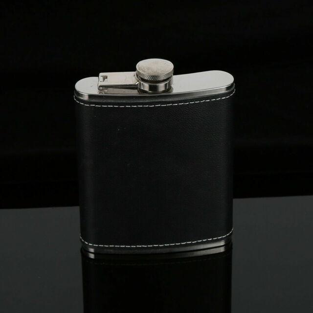 Portable Liquor Whiskey Alcohol Flagon Stainless Steel Hip Flask Wine Bottle 9oz