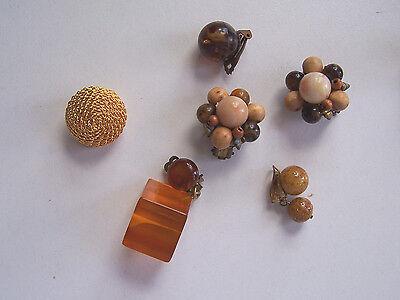 Sezione Speciale 6 X Orecchini Vintage Clip Singolarmente Pattern Originale Mai Usato 60er 50er (98)-mostra Il Titolo Originale Stile (In) Alla Moda;