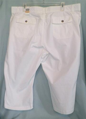 24w Femme New Stretch Taille Dockers 39307982450 Élastique Taille Blanc Capris Pantacourt Tags S70Hxfdq