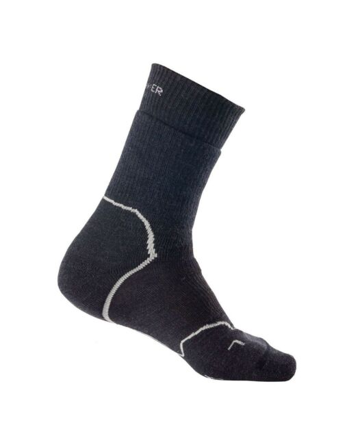 56603b9d8a Icebreaker Men's Hike+ Heavy Cushion Crew Merino Wool Sock - Jet  Heather/Twister