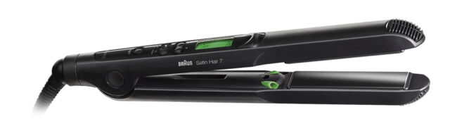 Braun St730 Satin Hair 7 Straightener With Carrying Case 220 Volts (not for