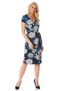 Roman-Originals-Women-039-s-Floral-Print-Wrap-Dress-Sizes-10-20