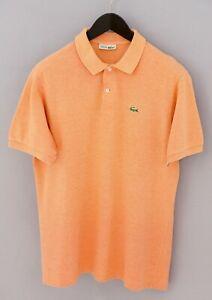 Men-Chemise-Lacoste-Polo-Shirt-Devanlay-Orange-Cotton-6-XL-XMS728