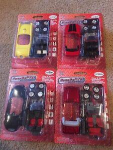 LOT-of-4-TESTORS-1-43-EASYBUILDER-Ford-Mustang-Thunderbird-Convertibles-Kits
