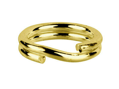9ct Split Ring 6mm Yellow Gold Easy To Use  Work Like a Keyring-Great for Charms