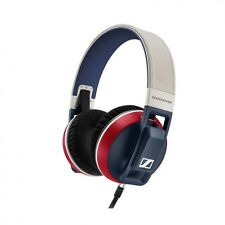 Authentic Sennheiser Urbanite XL Red White Blue Over Ear Headphones Fair Shape