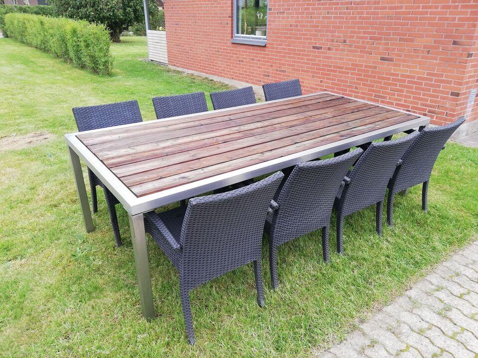 Havebord, Træ & rustfri stål