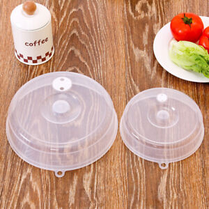 Fridge-Microwave-Plate-Cover-Clear-Steam-Vent-Splatter-Lid-6-9-034-inch-Food-Dish