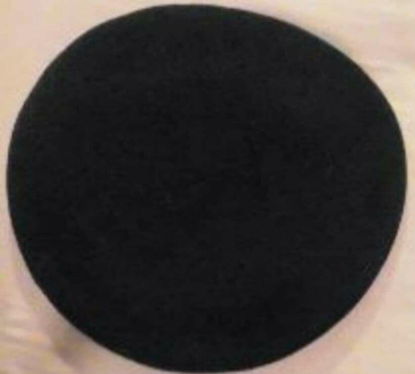 1950s BLACK BERET SMALL 6.3/4 CADET BEATNIK