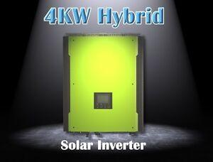 4000w Hybride solaire onduleur 48v PV entrée 580vdc, marche/hors grille