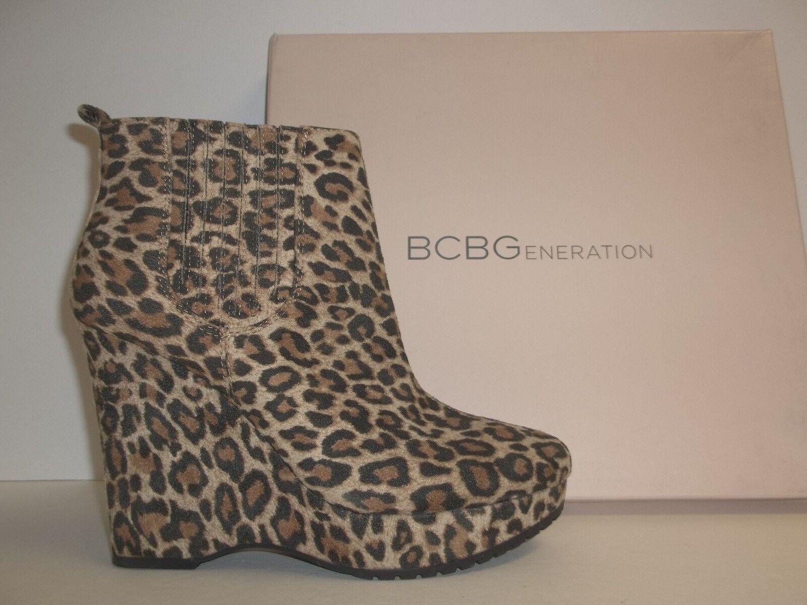 BCBGeneration BCBG Sze 5.5 M Vance 2 Vance2 Leopard Ankle Stiefel NEU Damenschuhe Schuhes