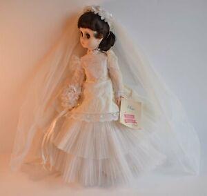 Vintage-Madame-Alexander-Elise-Doll-Brunette-Bride-17-034-tall-with-box