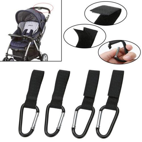 2pcs Universal Large Buggy Mummy Clip Pram Pushchair Shopping Bag Hook Carabiner