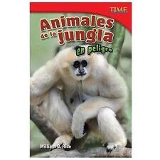 Animales de la jungla en peligro (Endangered Animals of the Jungle) (S-ExLibrary