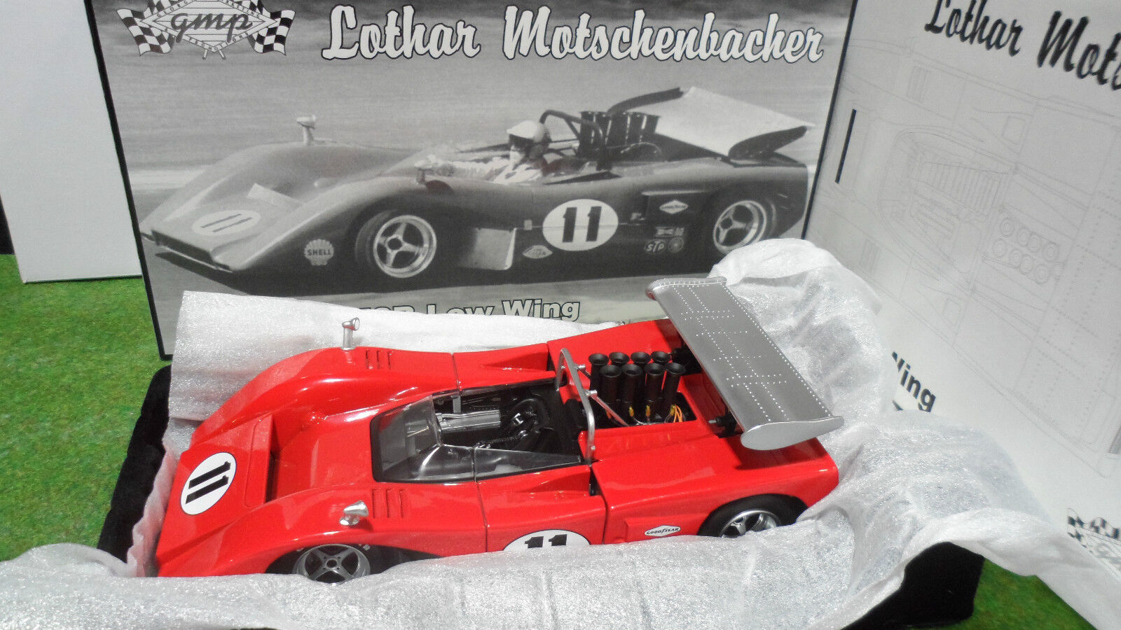 McLaren M8B Low Wing  11 Lothar Rouge au 1 18 GMP 12026 voiture miniature Can-Am