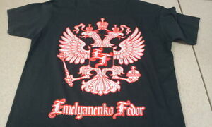New-Fedor-Emelianenko-Silver-Eagles-Shirt-Black-Silver-Red-Pride-UFC-MMA