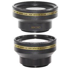 30mm 0.43x Wide Angle + Macro, 2X Telephoto Lens Kit for SONY HANDYCAM DCR-SR45