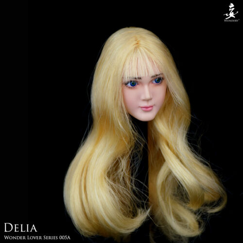 """WONDERY WLS005A Female Pale Head Carving Removable Eyes 1//6 F 12/"""" Girl Figures"""
