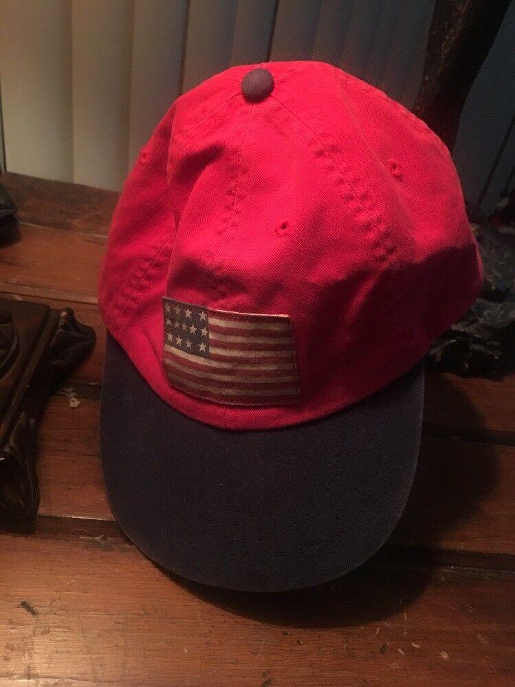 Used POLO-RALPH LAUREN Adjustable Cap/ USA / FLAG Baseball Cap/ Adjustable Hat c4c0c5