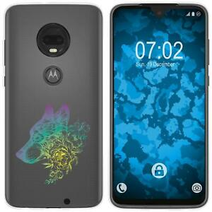 Motorola-Moto-G7-Plus-Coque-en-Silicone-floral-M3-4-Case-films-de-protection