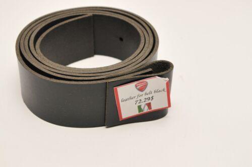 MADE IN ITALY 98154900 GENUINE DUCATI BLACK LEATHER BELT STRAP