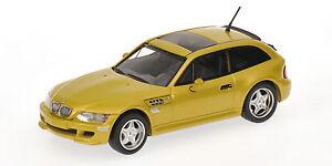 Bmw M Coupe '1999 Jaune 1:43 Modèle 400029060 Minichamps