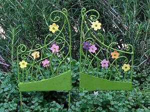 Miniatur Feengarten Zubehör Paar Von Mini Blumen Tor Wähle Gates