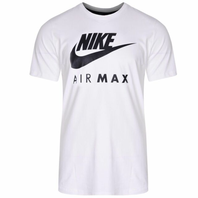 7bede729a834 Mens Nike Air Max T-shirt Tee Swoosh Printed Sports Gym Fitness ...