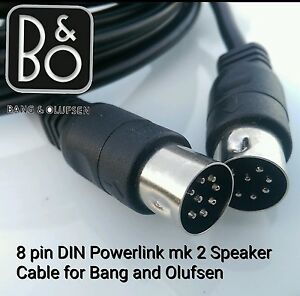 new beolab 8 pin din mk2 large speaker cable for bang olufsen b o 4 m long ebay. Black Bedroom Furniture Sets. Home Design Ideas