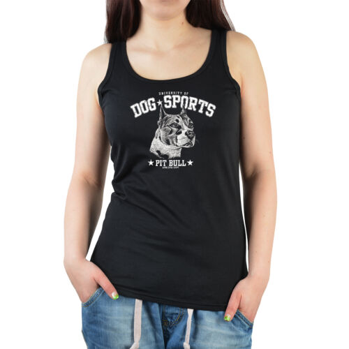Pit Bull Motiv T-Shirt Bull Terrier Motiv T-Shirt Hunderassen Damen Shirt