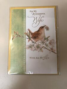 Hallmark-Romantic-Easter-Greeting-Card-For-Wife-Embossed-Brand-New