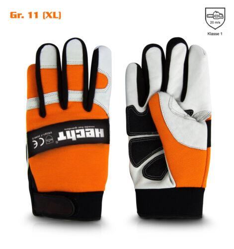 Hecht Schnittschutzhandschuhe Größe 9-12 Handschuh für Kettensäge Forstschutz